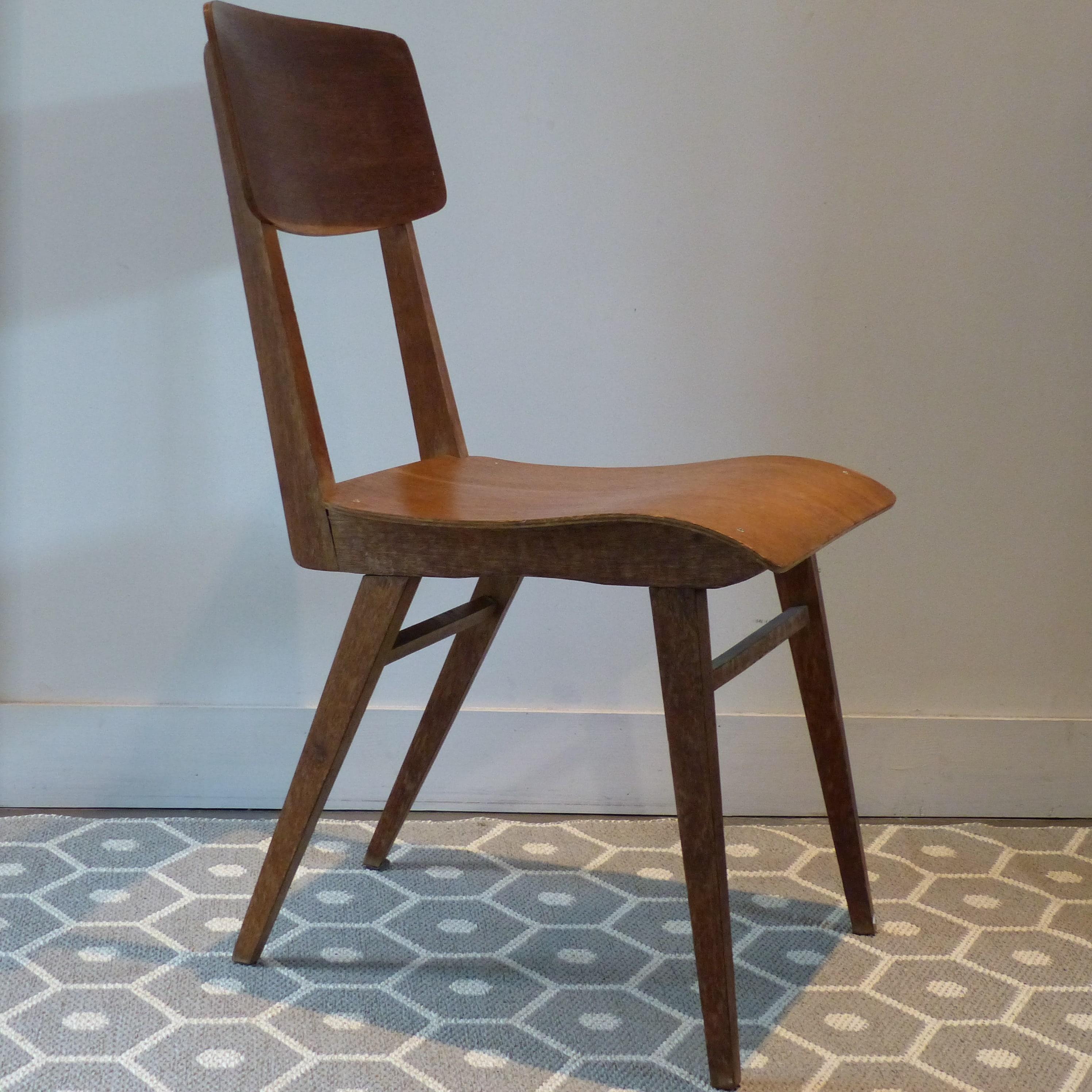chaise de bureau vintage bureau et chaise mullca 300 l 39. Black Bedroom Furniture Sets. Home Design Ideas