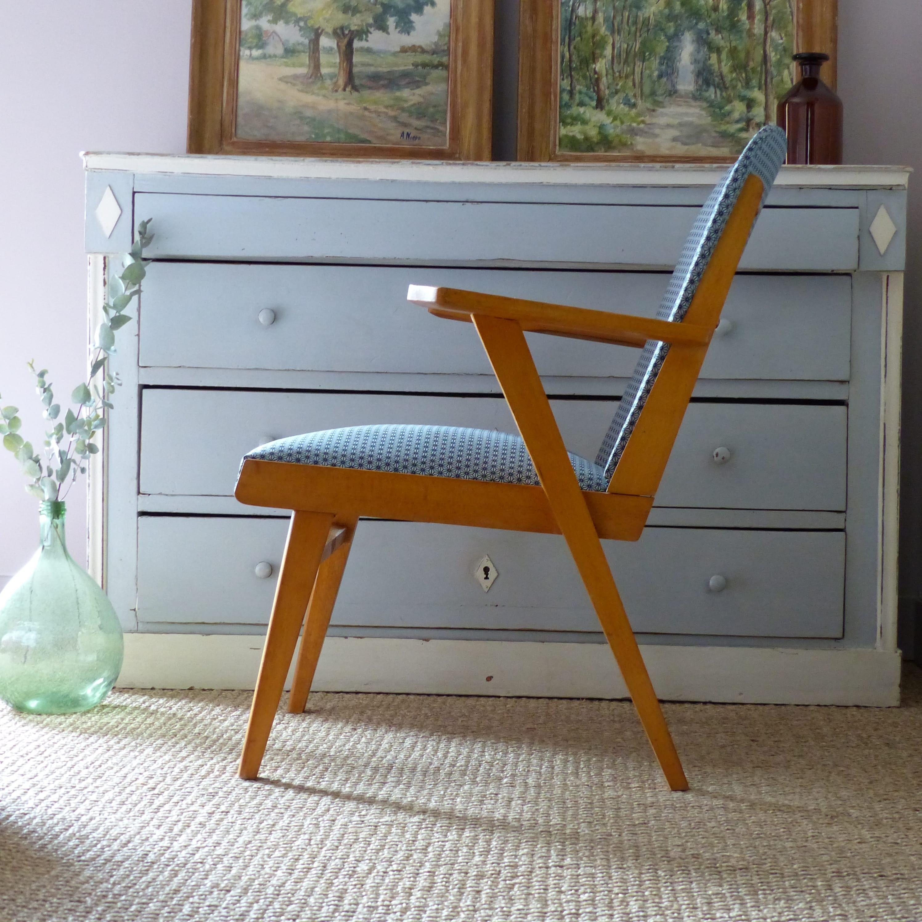 fauteuil bridge des ann es 50 lignedebrocante brocante en ligne chine pour vous meubles. Black Bedroom Furniture Sets. Home Design Ideas