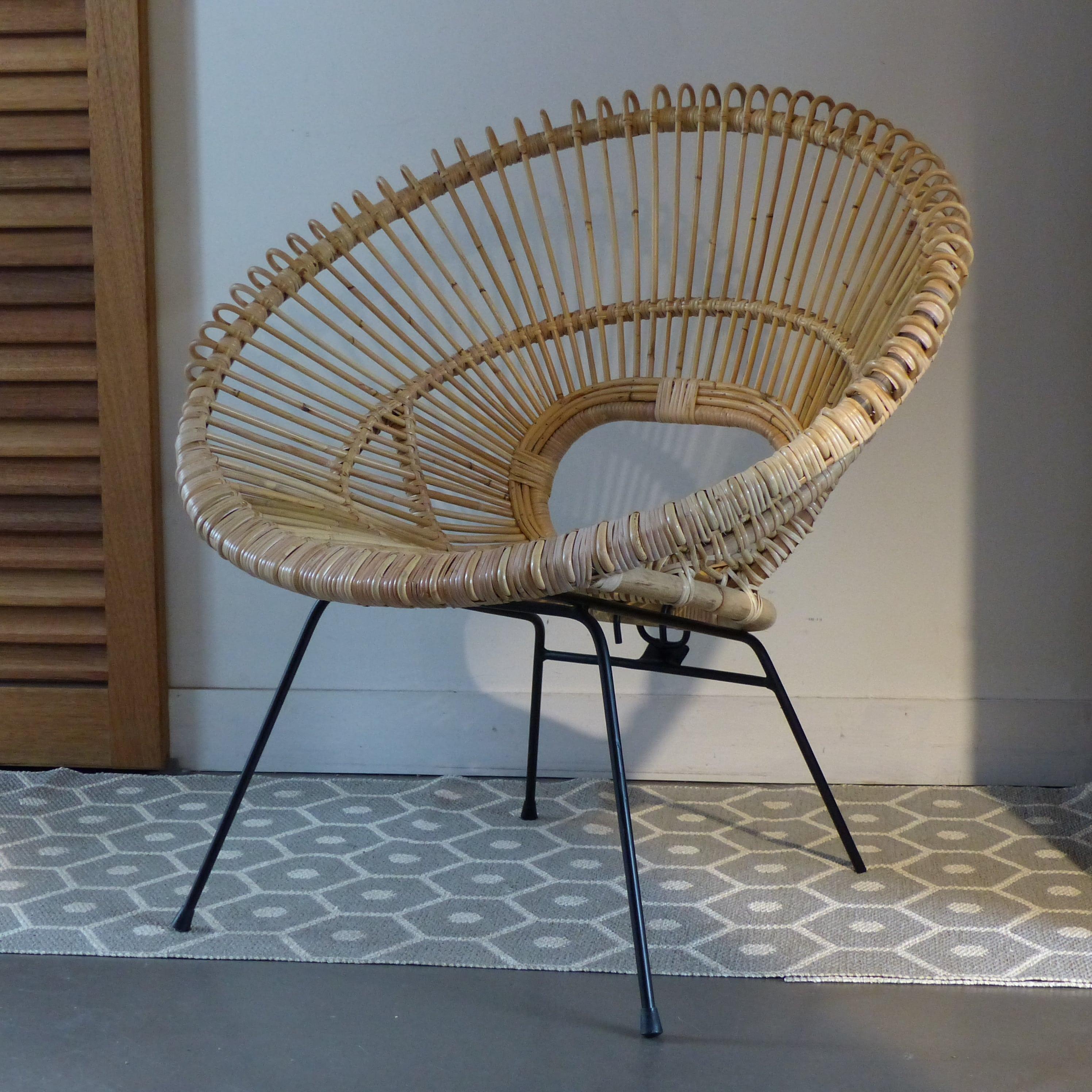 fauteuil soleil en rotin lignedebrocante brocante en ligne chine pour vous meubles vintage. Black Bedroom Furniture Sets. Home Design Ideas
