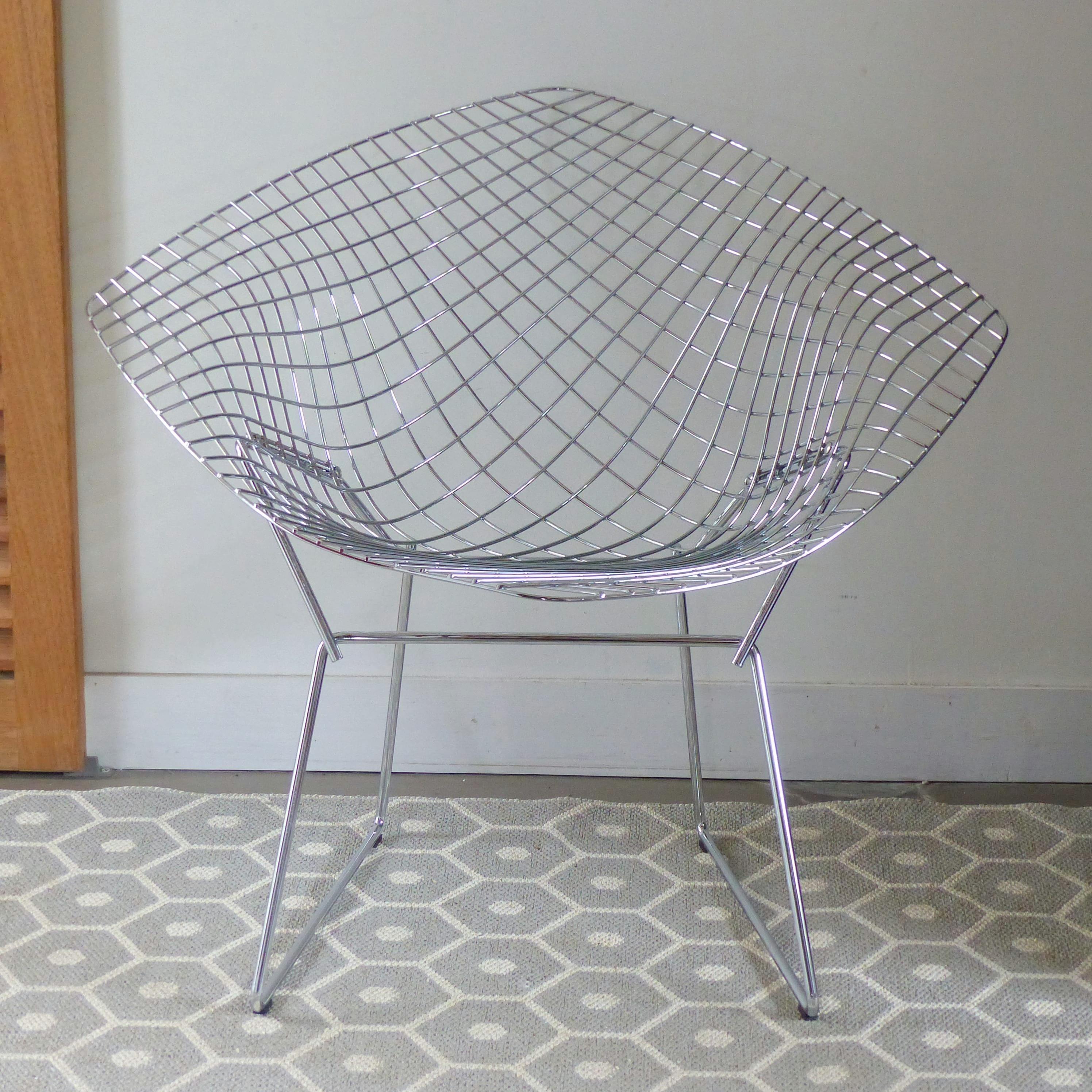fauteuil diamond harry berto a pour knoll. Black Bedroom Furniture Sets. Home Design Ideas