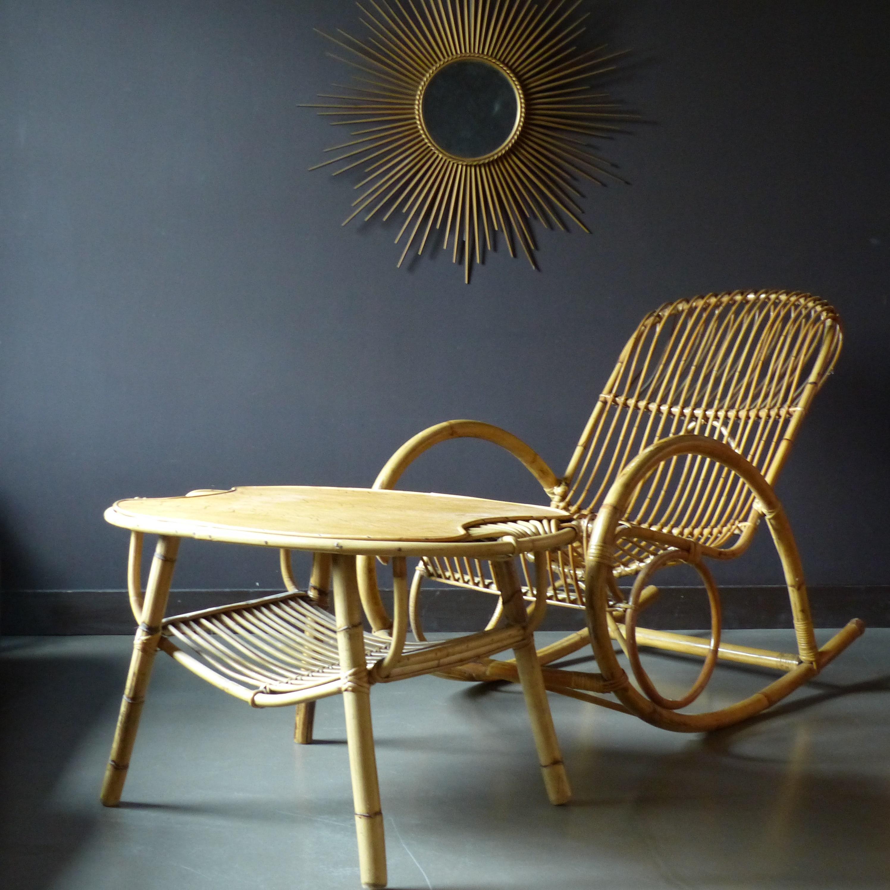 grand rocking chair en rotin lignedebrocante brocante en ligne chine pour vous meubles. Black Bedroom Furniture Sets. Home Design Ideas
