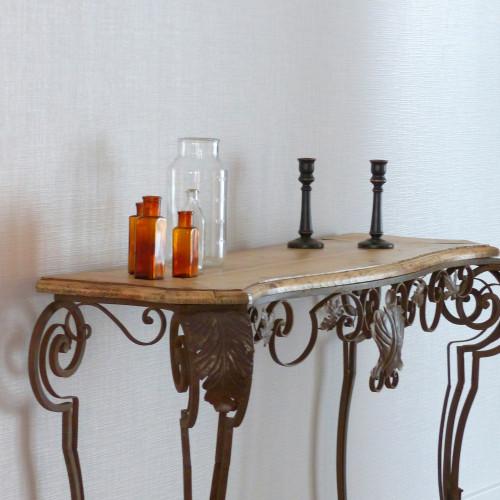 console en fer forg lignedebrocante brocante en ligne chine pour vous meubles vintage et. Black Bedroom Furniture Sets. Home Design Ideas