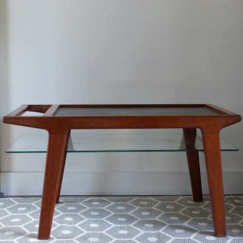 Table basse scandinave bicolore