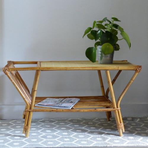 table basse en rotin vintage lignedebrocante brocante en ligne chine pour vous meubles. Black Bedroom Furniture Sets. Home Design Ideas