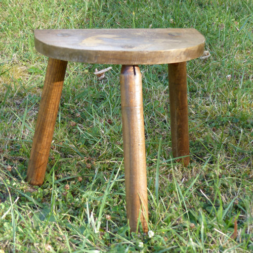 Tabouret de traite en bois