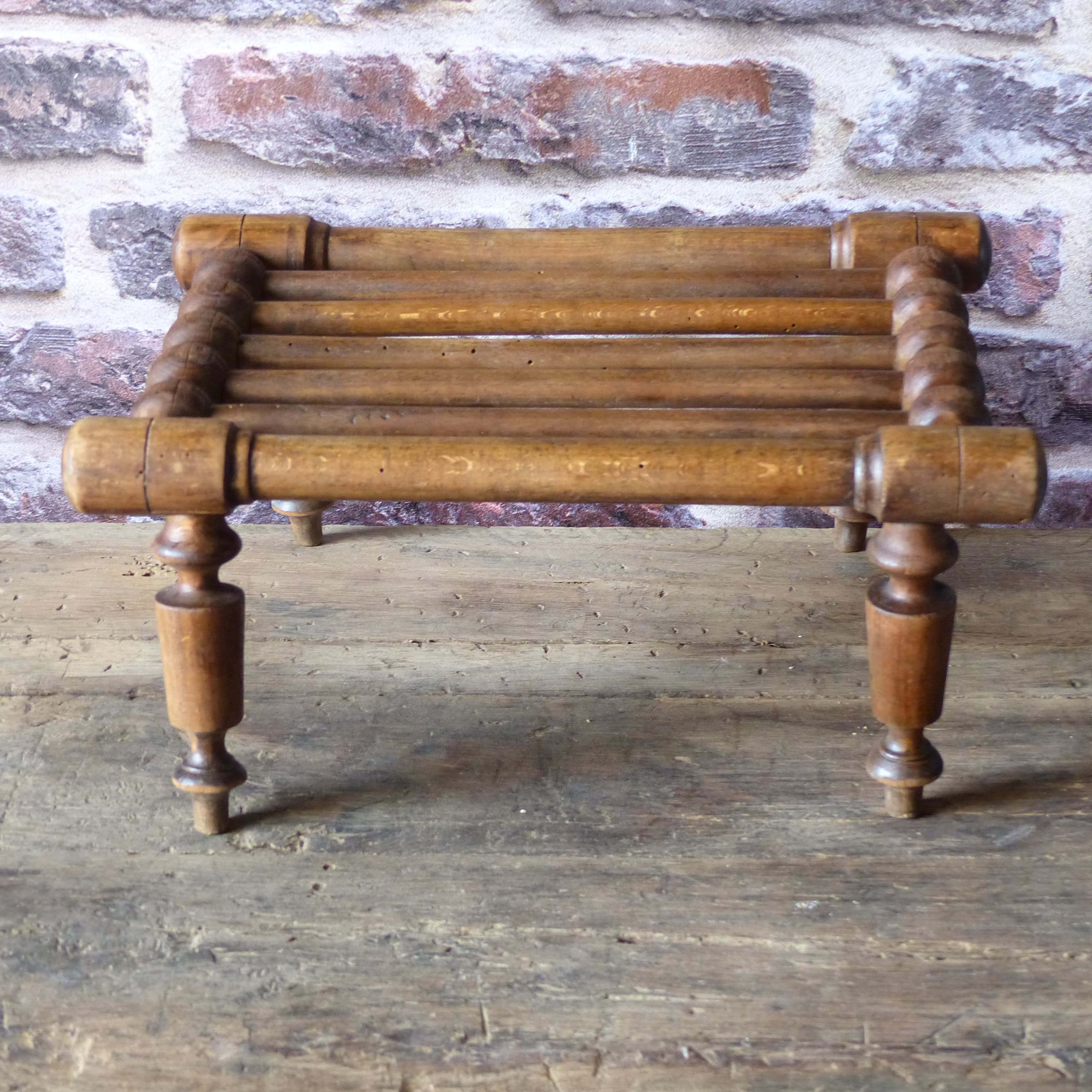 Petit repose pied en bois tourné lignedebrocante brocante en ligne chine pour vous meubles  # Repose Pied En Bois