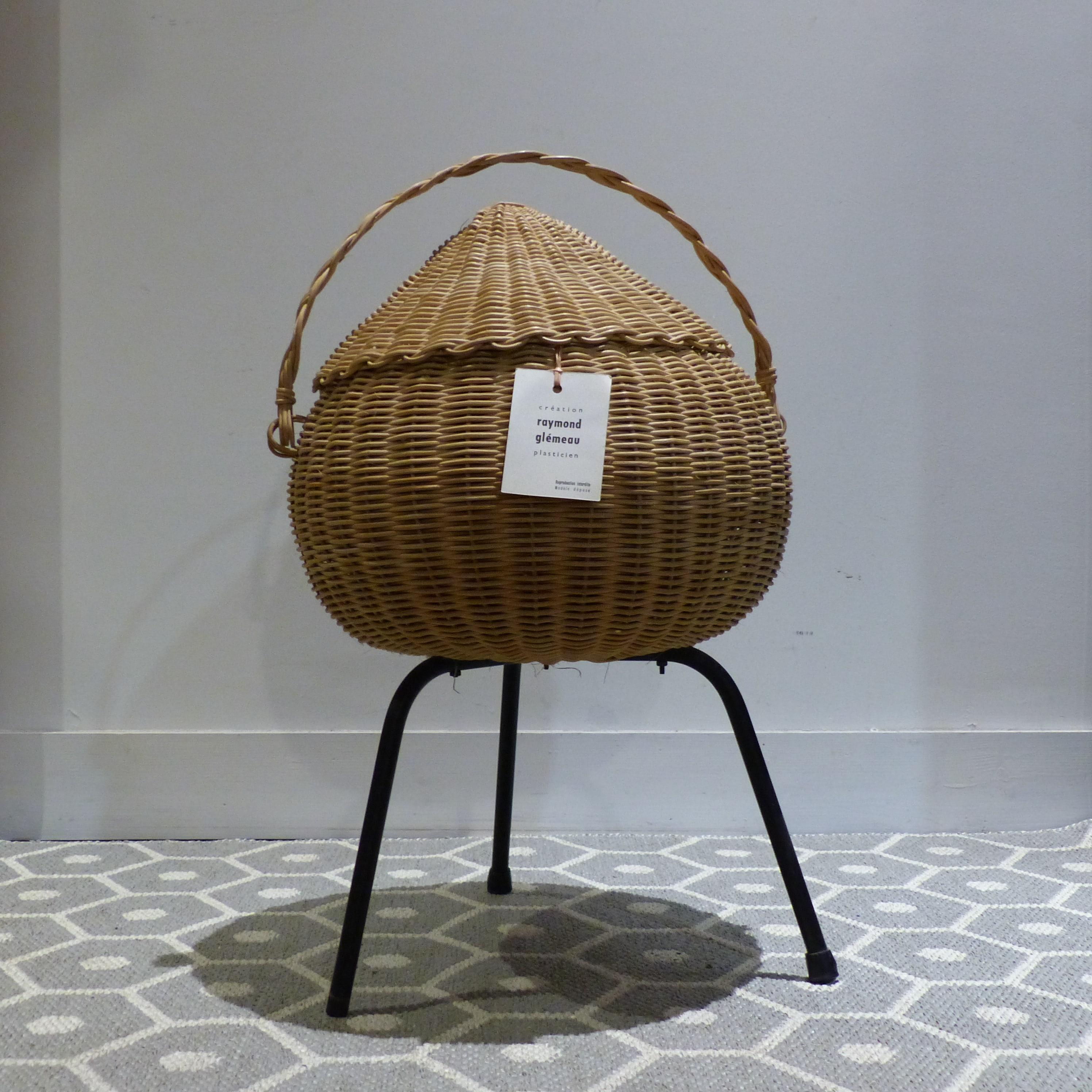 travailleuse en rotin pi tement m tal tripode lignedebrocante brocante en ligne chine pour. Black Bedroom Furniture Sets. Home Design Ideas